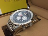 New Swiss Breitling Navitimer Stainless Steel CHRONOGRAPH Watch