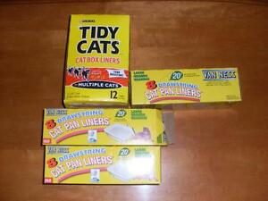 4 BOXES OFCAT LITTER BAGS
