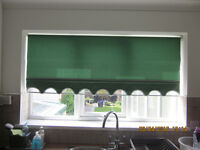 Teal Green Fabric Roller Blind