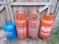 4/full gas bottle,s