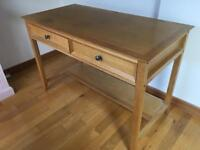 Solid wooden desk with drawers