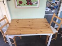 Kitchen Table and 2 Chairs (IKEA)