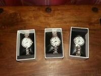 3 ladies watches stainless steel