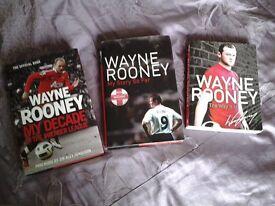 3 Hardback books about WAYNE ROONEY