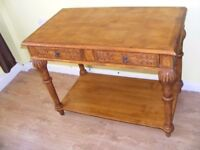 CAN DELIVER - VERY RARE BEAUTIFUL HALL TABLE IN GOOD CONDITION