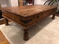 Vintage Rustic Wooden Coffee Table