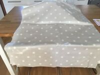 Laura Ashley Oil Cloth Polka Dot Light Grey