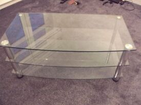 3 SHELF, GLASS TV STAND EXCELLENT CONDITION