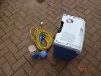 Coolbox, gas lantern and hook up cable in good condition.