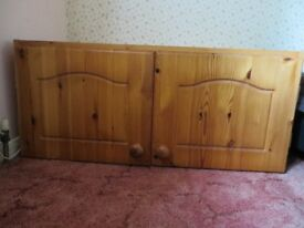 Pine 2 door storage cupboard