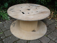 Wooden Reclaimed Cable Reel/Drum,Table, 75cm x 38cm Upcycled Project