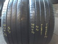 Second hand tyres - 245/40/18 x 2 Pirelli - used tyres- 245/45/18
