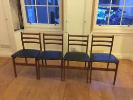 Four retro dining chairs