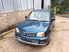 2000 Nissan Micra breaking. All parts available