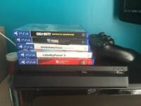 PS4 Slim w Games