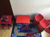 Cars, lighting McQueen, children furniture set