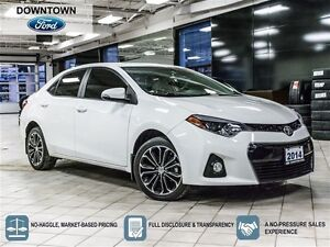 2014 Toyota Corolla S, Moonroof, Headed leather seats, Blue toot
