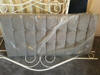 Grey diamanti headboard 3/4 size brand new