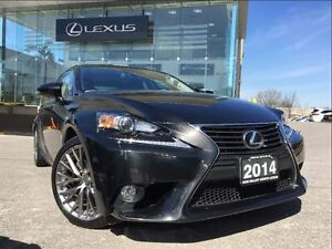 2014 Lexus IS 250 Luxury Pkg AWD Navi Back Up Cam Leather Blueto