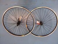 "Mavic/Shimano Deore 26"" 9 speed MTB Disc Wheelset professionally handbuilt"
