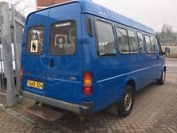 1999 T FORD TRANSIT 17 SEATER MINIBUS 2.5 DIESEL ABSOLUTELY STUNNING INSIDE AND OUT LONG MOT BARGAIN