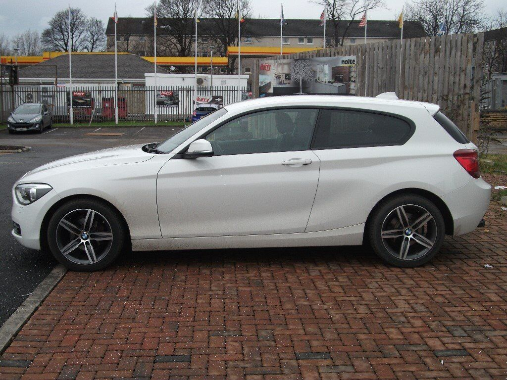 bmw 1 series 116i sport 3 door alpine white automatic 2013 62 fsh in southside. Black Bedroom Furniture Sets. Home Design Ideas