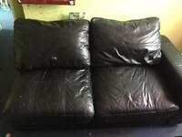 FREE!!! Black leather corner sofa