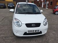 Kia picanto 1.0 white half leather one former keeper full service history recently been service