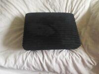 Footstools - 2 x black jumbo cord footstools