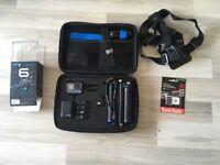 Gopro hero6 4K waterproof camera black edition + Extras