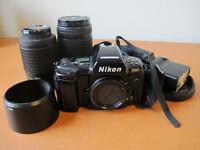 Nikon F90 film SLR + 2 lens + Sigma flash