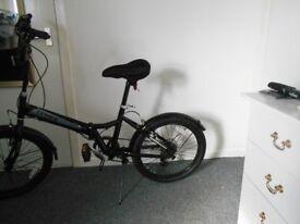 folding bike, nearly new