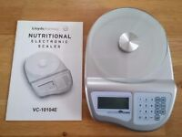 Nutrition calulating kitchen scales