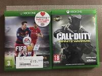 Fifa 16 & COD Infinity Warfare xbox one