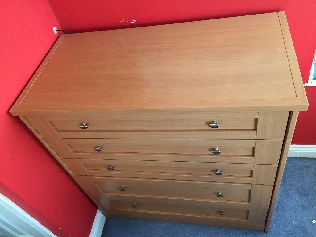 Schreiber Bedroom Furniture Beech Coloured Chest Of Drawers Schreiber Design In Salford