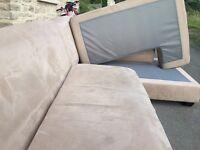 Large modular Suedette Corner Sofa