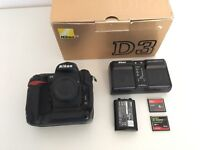 Nikon D3 with 2 batteries