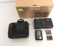 Nikon D3 with 2 batteries