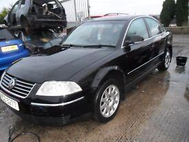 volkswagen passat 1.9 tdi highline 2004 full black leather alloys cd motd