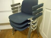 Vintage Giancarlo Piretti for Castelli Chair Set With Arms