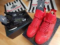 Nike Air Jordan 4 11Lab4 BLACK Patent Leather QS LTD RARE LIKE KAWS UK10 ORIGINAL Receipt 100sales