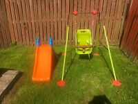 Toddler Garden Swing & Slide £35 for 2 or £20 Each