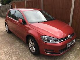 Volkswagen Golf MK7 1.6 TDI Bluemotion 5dr (start/stop) 02/02/2015, TAX £0