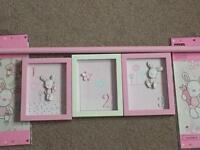 Baby girls bedroom items