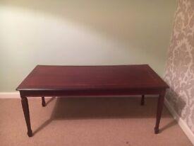 Hand-made mahogany table