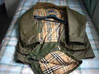 Mans Burberry Wax Jacket And Hood