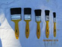 Coral paint brushes and decorating tools.