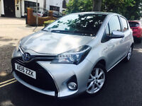 TOYOTA YARIS EXCEL HYBRID 2015 LOW MILEAGE LEATHERS NOT AURIS PRIUS BMW MERCEDES POLO