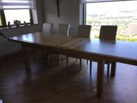 Derwin Large Extending Dinning Table.