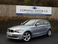 BMW 1 SERIES 2.0 116I SPORT 3d 121 BHP RECENT SERVICE + NEW MOT (blue) 2009